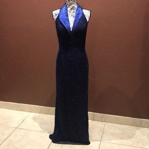 Beaded evening gown.